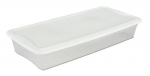 Sterilite 19608006 41-Quart Underbed Box, White Lid with See-Through Base, 6-Pack