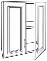Closetmaid 2 Door Wall Cabinet 12317-36 Shelving Laminated