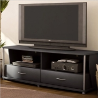 South Shore Furniture City Life Collection TV Stand, Pure Black