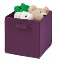 Honey-Can-Do SFT-01763 Kids Storage Bins, Soft and Foldable Organizers, Purple