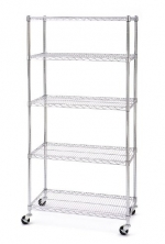 Seville Classics SHE18370B 18-Inch by 36-Inch by 72-Inch Shelving System, Chrome