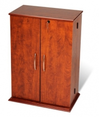 Prepac Cherry Small Locking Media (DVD,CD,Games) Storage Cabinet