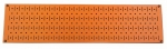 Wall Control Narrow Pegboard Rack 8in x 32in Orange Metal Pegboard Runner Tool Board