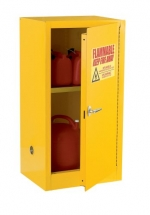 Edsal SC12F 23-Inch Wide by 18-Inch Deep by 35-Inch High 12-Gallon One-Shelf Flammable Liquid Safety Cabinet, Yellow