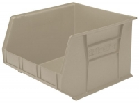 Akro-Mils 30270 Plastic Storage Stacking Hanging Akro Bin, 18-Inch by 16-Inch by 11-Inch, Stone, Case of 3