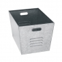 Edsal LB111310 Steel Galvanized Utility Bins 12 Width x 17 Height x 11 Depth, set of 6