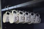 Under Shelf Mug Cup Rack - Metal Storage Holder for Kitchen Pantry Cupboard - Chrome - (11 x 7.5 x 2.25)
