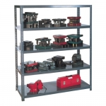 Edsal 1260 Industrial Gray 14 Gauge Steel Extra Heavy Duty Shelving, 3000lbs Capacity, 48 Width x 96 Height x 24 Depth