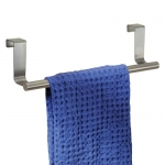 InterDesign Forma Over-the-Cabinet 14-Inch Bath Towel Bar, Brushed Stainless Steel