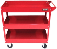 Excel TC301A-Red 3-Tray Rolling Metal Tool Cart, Red