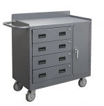 Durham 2211A-LU-95 Mobile Cabinet with 4 Drawer Lockable Storage Compartment, 36 Wide, 1200 lb Capacity