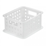InterDesign Spa Stacking Basket, Small, Frost