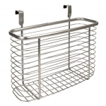 InterDesign Axis Over the Cabinet, X5 Basket, Silver