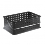 InterDesign 14 by 9 by 5-Inch Basic Basket, Medium, Black