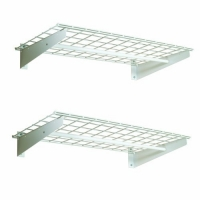 HyLoft 777 36-by-18-Inch Wall Shelf with Hanging Rod, 2-Pack by HyLoft