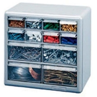 Stack-On 12-Drawer Storage Cabinet, Silver Gray
