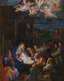The polyster Canvas of oil painting 'Guido Reni The Adoration of the Shepherds ' ,size: 8 x 12 inch / 20 x 31 cm ,this Vivid Art Decorative Prints on Canvas is fit for Garage gallery art and Home artwork and Gifts