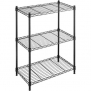 Multi Purposed Whitmor Supreme Small 3-Tier Shelves, Black
