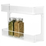 InterDesign 2 Tier Linus Wall Mount Spice Rack, Clear