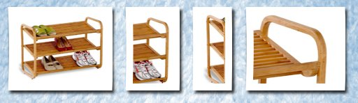 Honey-Can-Do bamboo  shoe shelf