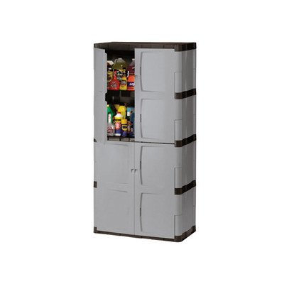 Rubbermaid Plastic Storage Cabinet 36x18x72 Quot Gray Rubbermaid Rubbermaid 7083