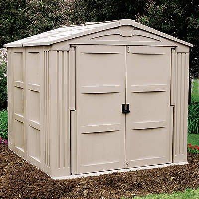 Suncast 7 39 9 3 4 x 7 39 10 3 4 storage shed suncast for Garden shed 9x7