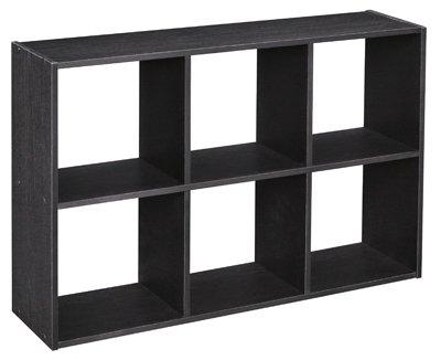 Superior ClosetMaid Cubeicals 6 Cube Mini Organizer, Black Ash