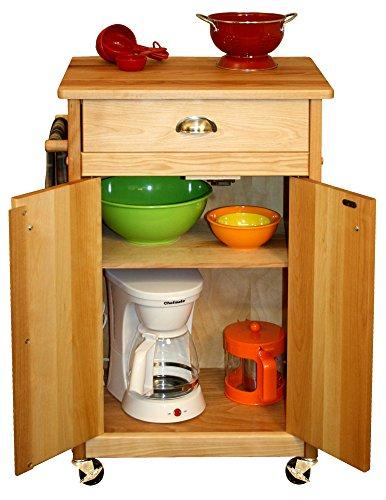 Catskill craftsmen butcher block cart with backsplash for Catskill craftsmen kitchen cabinets