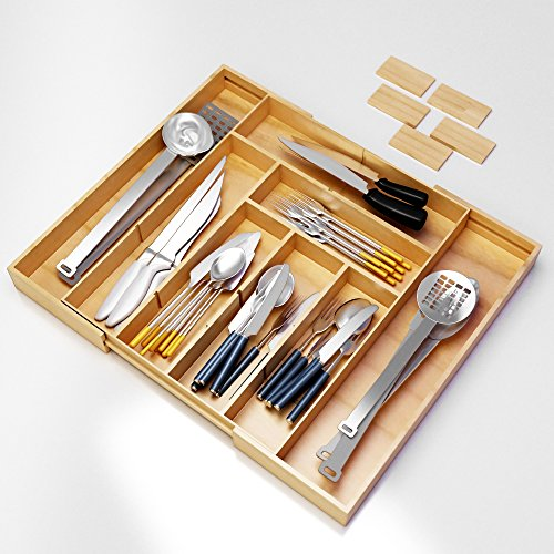 Best silverware kitchen drawer organizer expendable for Utensil organizer for small drawers