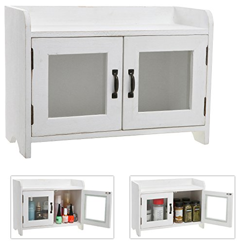 Shabby Chic Wood Mini White Kitchen Cupboard
