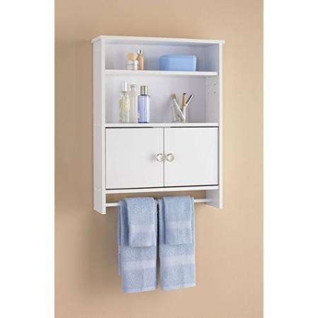 mainstays 2 door wood wall cabinet white mainstays. Black Bedroom Furniture Sets. Home Design Ideas